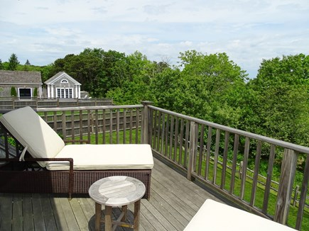 Edgartown Martha's Vineyard vacation rental - Deck, faces water, overlooking Sheriff's Meadow Bird Sanctuary
