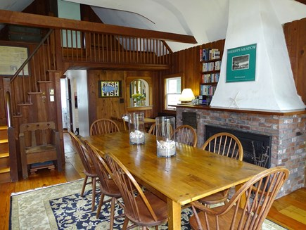 Edgartown Martha's Vineyard vacation rental - Dining room with stairs to upstairs bedroom