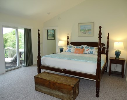 Edgartown Martha's Vineyard vacation rental - Upstairs private Master Suite, with slider to deck