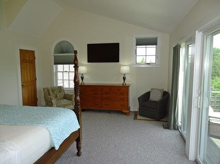 Edgartown Martha's Vineyard vacation rental - Master bedroom with TV, private bath