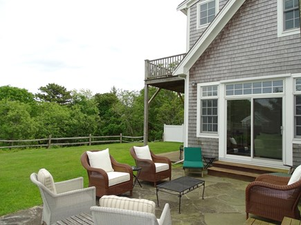 Edgartown Martha's Vineyard vacation rental - Patio with grill, overlooking expansive, private back yard