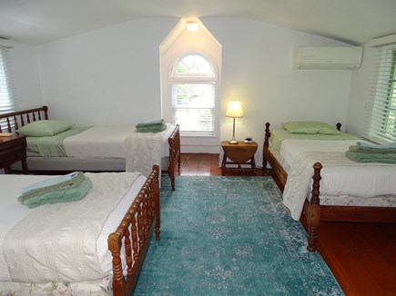 Edgartown Martha's Vineyard vacation rental - Upstairs bedroom with 3 single beds. 2 singles convert to king