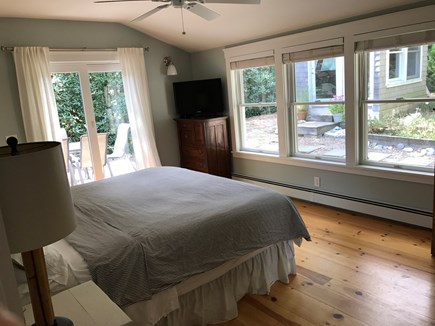 Oak Bluffs Martha's Vineyard vacation rental - Master bedroom opens up to outdoor deck.