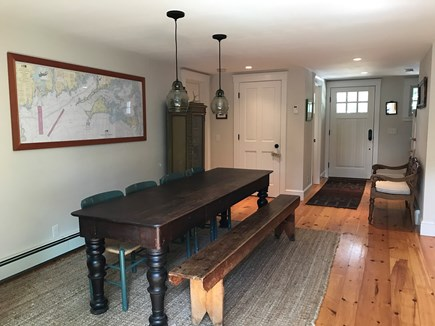 Oak Bluffs Martha's Vineyard vacation rental - Open Dining Room with farmhouse table.