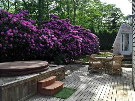 Oak Bluffs Martha's Vineyard vacation rental - Outdoor deck with hot tub and outdoor dining.