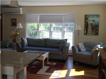 Edgartown Martha's Vineyard vacation rental - Sunny living area with view to back yard