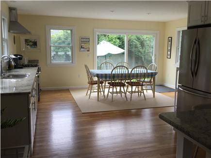 Edgartown Martha's Vineyard vacation rental - Eat in kitchen with slider to back patio and yard