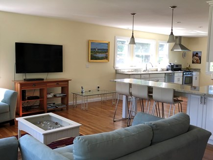 Edgartown   near town Martha's Vineyard vacation rental - Living area with view of kitchen