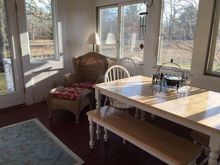Edgartown Martha's Vineyard vacation rental - Dining area on sunporch