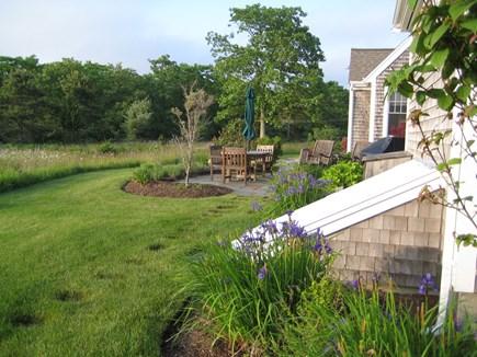 Edgartown Martha's Vineyard vacation rental - Side view of back  patio area