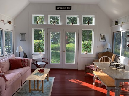 Edgartown Martha's Vineyard vacation rental - sunroom with queen sleeper and newly added ac