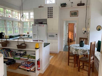 Edgartown Martha's Vineyard vacation rental - Kitchen and breakfast area from living room