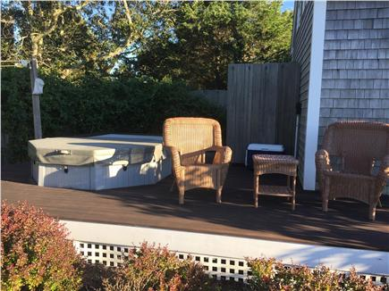 Edgartown Martha's Vineyard vacation rental - Hot tub deck with outdoor shower