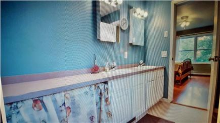 Edgartown Martha's Vineyard vacation rental - Master bath with washer/dryer and counter space, large tub/shower