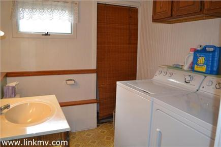 Oak Bluffs Martha's Vineyard vacation rental - Downstairs 1/2 bath with washer/dryer
