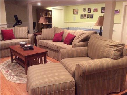 Edgartown Martha's Vineyard vacation rental - Finished basement with tv, pingpong, gym equipment, sleeper sofa