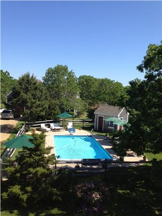 Edgartown Martha's Vineyard vacation rental - View of pool area from upstairs window