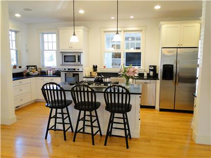 Edgartown Martha's Vineyard vacation rental - Modern kitchen w/ stainless appliances, breakfast bar