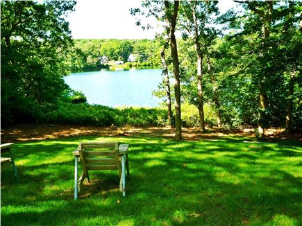 Lambert's Cove  West Tisbury Martha's Vineyard vacation rental - View of Seth's Pond from deck