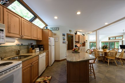 Lambert's Cove  West Tisbury Martha's Vineyard vacation rental - Main house kitchen and dining area overlooking pond