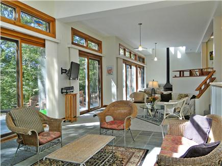 Lambert's Cove  West Tisbury Martha's Vineyard vacation rental - Large living room offers three sitting areas and flat screen TV