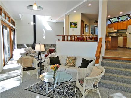 Lambert's Cove  West Tisbury Martha's Vineyard vacation rental - Open floor plan with dining, kitchen and living area