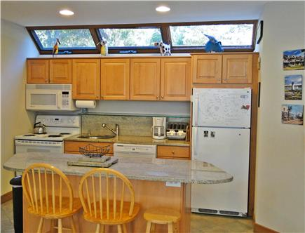 Lambert's Cove  West Tisbury Martha's Vineyard vacation rental - Kitchen area with breakfast bar seating