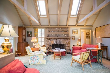West Tisbury Martha's Vineyard vacation rental - Living Room with fireplace
