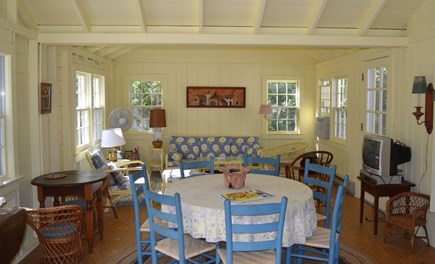 West Tisbury Martha's Vineyard vacation rental - Open living area in guest house