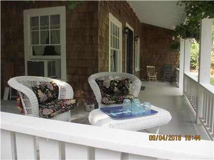 Oak Bluffs, East Chop Martha's Vineyard vacation rental - Tranquil porch time in secluded woods.