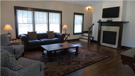 Oak Bluffs Martha's Vineyard vacation rental - Living room with gas fireplace