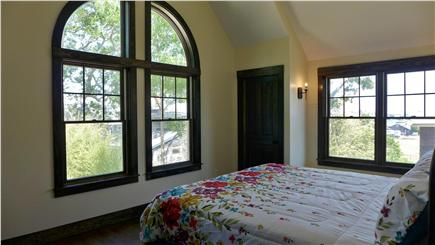 Oak Bluffs Martha's Vineyard vacation rental - 2nd Fl King master with a water view of the oak Bluffs Harbor