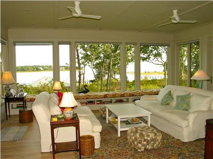 Edgartown, Katama Martha's Vineyard vacation rental - Living room has lots of natural light and fabulous water views.