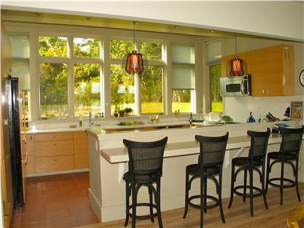 Edgartown, Katama Martha's Vineyard vacation rental - Gourmet kitchen with additional bar seating area.