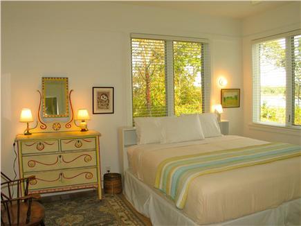 Edgartown, Katama Martha's Vineyard vacation rental - First floor master with en suite, private deck & outside shower.