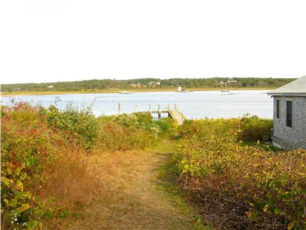 Edgartown, Katama Martha's Vineyard vacation rental - Path to the private dock and sandy beach!