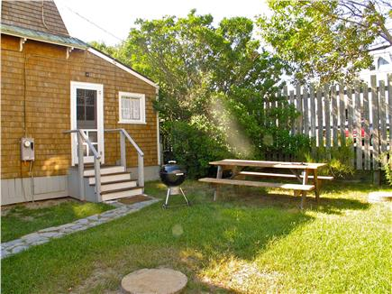 Oak Bluffs Martha's Vineyard vacation rental - Back yard picnic table and grilling area