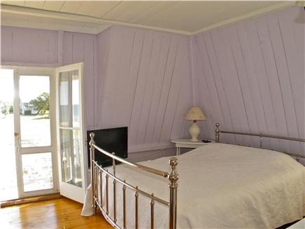 Oak Bluffs Martha's Vineyard vacation rental - Purple bedroom with access to upper deck.