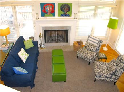Vineyard Haven Martha's Vineyard vacation rental - View of living area from the balcony