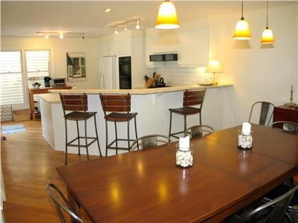 Vineyard Haven Martha's Vineyard vacation rental - Large dining table and counter bar seating