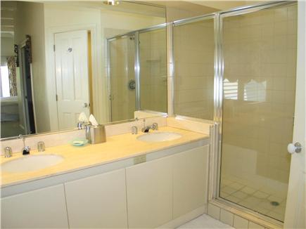 Vineyard Haven Martha's Vineyard vacation rental - Master bath with double vanity and separate shower