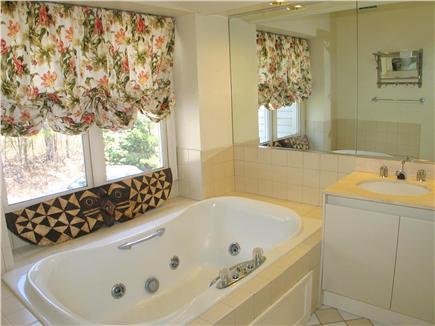 Vineyard Haven Martha's Vineyard vacation rental - Master bath with large jetted bathtub