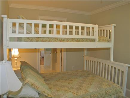 Vineyard Haven, Tisbury Martha's Vineyard vacation rental - Third bedroom with full and twin bunk bed