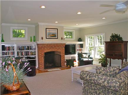 Vineyard Haven, Tisbury Martha's Vineyard vacation rental - Large open living room that opens to back deck