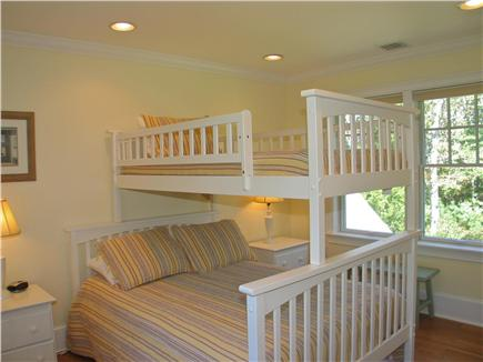 Vineyard Haven, Tisbury Martha's Vineyard vacation rental - Second bedroom with full and twin bunk bed