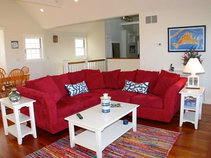Aquinnah Martha's Vineyard vacation rental - Large open living room with lovely water views