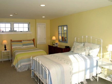 Aquinnah Martha's Vineyard vacation rental - Bedroom in lower level of the house with two full beds