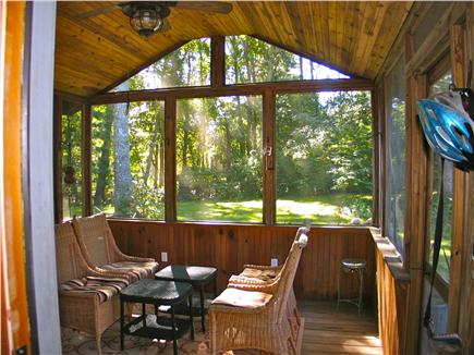 Vineyard Haven Martha's Vineyard vacation rental - Bright screened in porch with ceiling fan and light