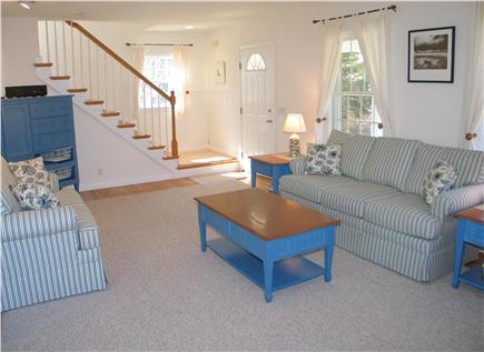 West Tisbury Martha's Vineyard vacation rental - Front door off living room and stairway to the upstairs bedrooms