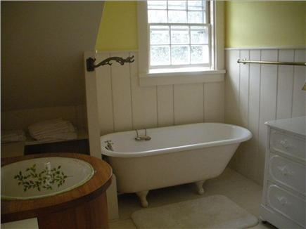 Edgartown Martha's Vineyard vacation rental - Master bathroom with clawfoot tub